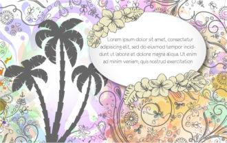 Vintage Floral Background Vector Illustration Vector Illustrations palm