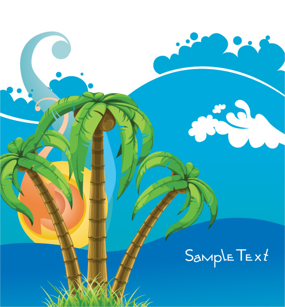 Abstract Summer Background Vector Illustration 28 04 2011 64