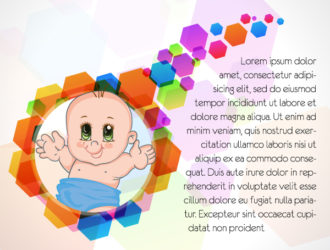 Vector Colorful Background With Baby Vector Illustrations vector
