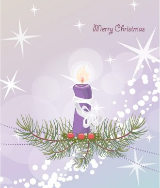 Vector Candle With Circles Vector Illustrations star