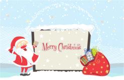Vector Santa With Billboard Vector Illustrations vector