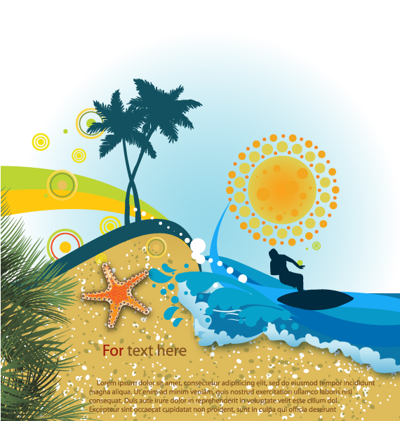 Exciting Summer Vector Art: Summer Background Vector Art Illustration 5