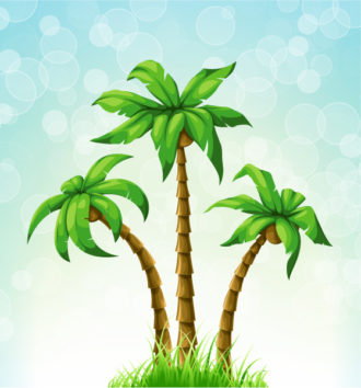 Vector Summer Illustration With Palm Trees Vector Illustrations palm