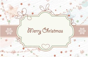 Vector Christmas Frame With Circles Vector Illustrations star