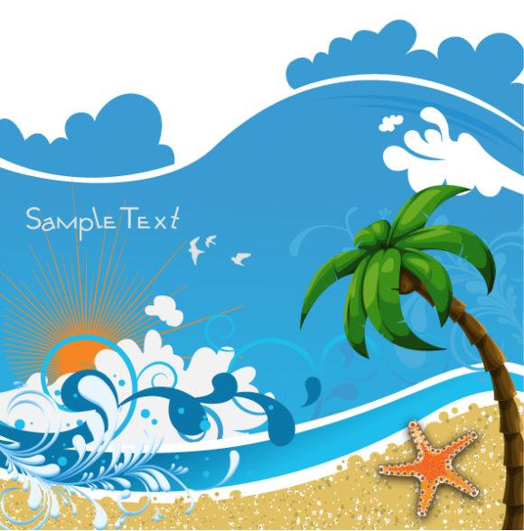 Trendy Leaf Vector Artwork: Summer Background Vector Artwork Illustration 30 03 2011 1