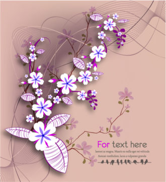 Vector Abstract Floral Background Vector Illustrations wave