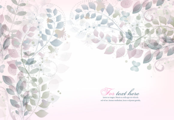 Floral Vector Design: Vector Design Abstract Floral Background 5