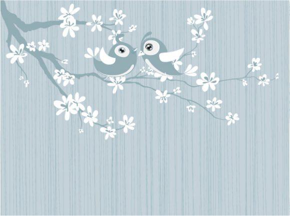 Awesome Vector Vector: Love Birds Vector Illustration 30 03 2011 58