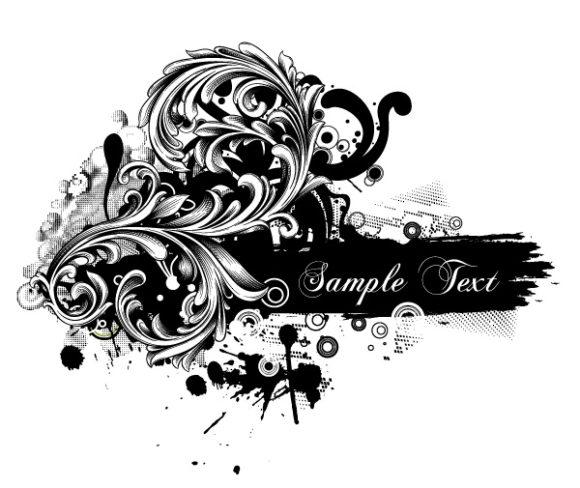 Illustration Vector Design Grunge Floral Vector Illustration 30 03 2011 66