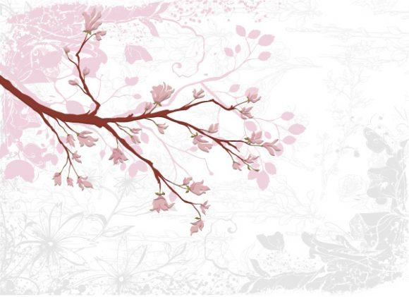 Dirt Vector Art: Grunge Floral Background Vector Art Illustration 5