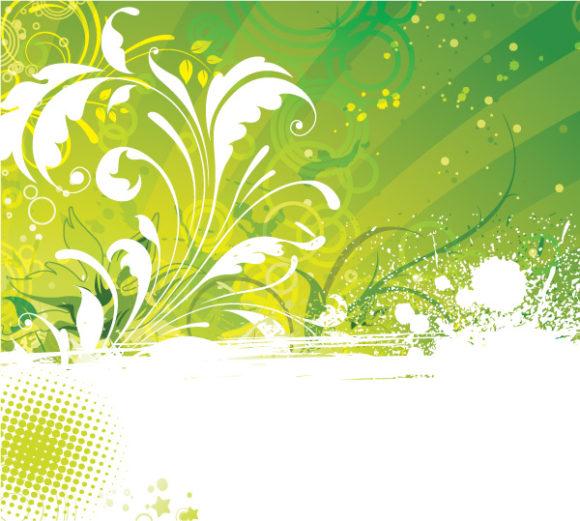 Gorgeous Grunge Vector Illustration: Grunge Floral Background Vector Illustration Illustration 5