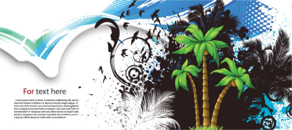 Summer Background With Palm Trees Vector Illustration 30 03 2011 8