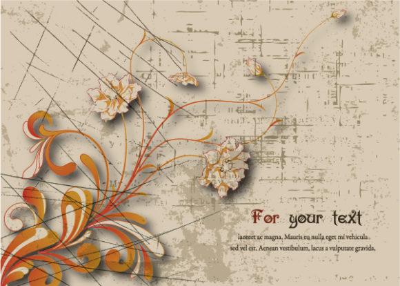 Grunge Vector Art: Grunge Floral Background Vector Art Illustration 30 06 2011 2
