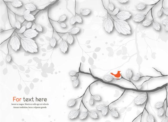 Bold Grunge Vector Art: Grunge Floral Background Vector Art Illustration 5
