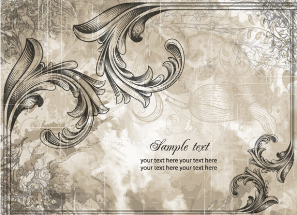 Astounding Background Vector Graphic: Vintage Background Vector Graphic Illustration 5