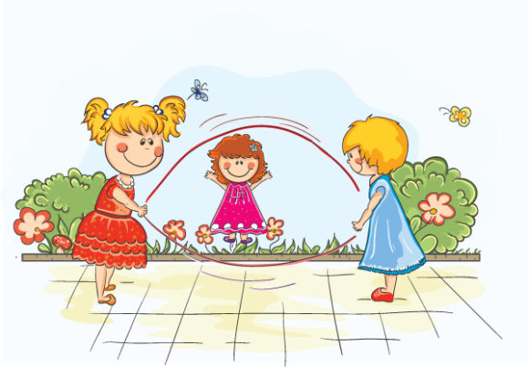 Vector Vector Background Kids Playing Vector Illustration 30 6 2011 101