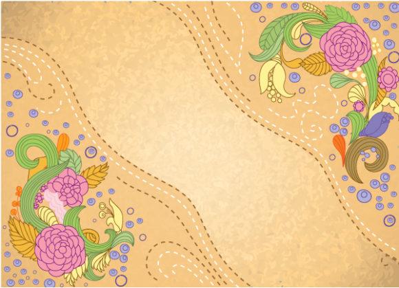 Floral, Illustration Vector Graphic Floral Background Vector Illustration 5