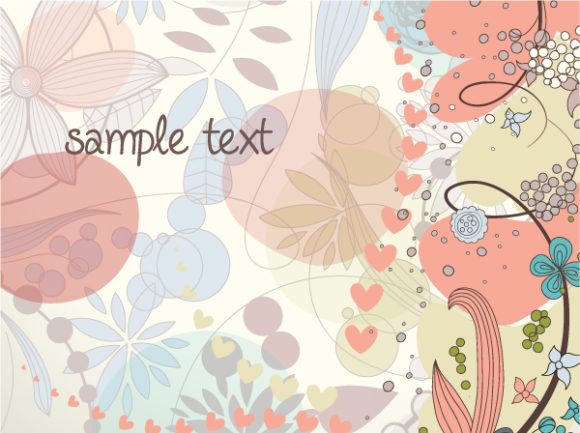 Illustration, Floral Vector Background Floral Background Vector Illustration 30 8 2011 109