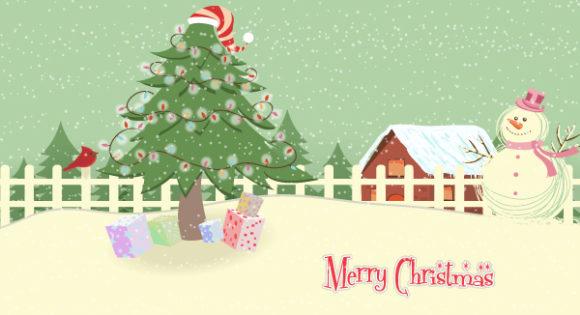 Insane Greeting Vector Image: Vector Image Christmas Greeting Card 30 9 2011 102
