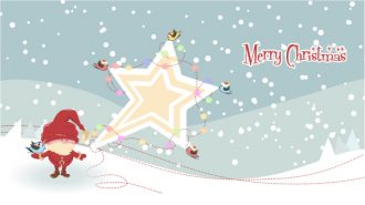 Vector Santa With Star Vector Illustrations vector