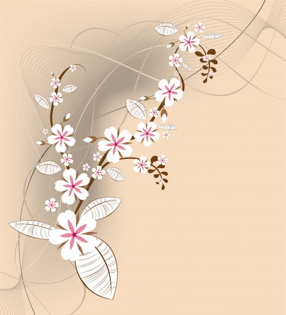 Brilliant Background Vector Graphic: Vector Graphic Spring Floral Background 5