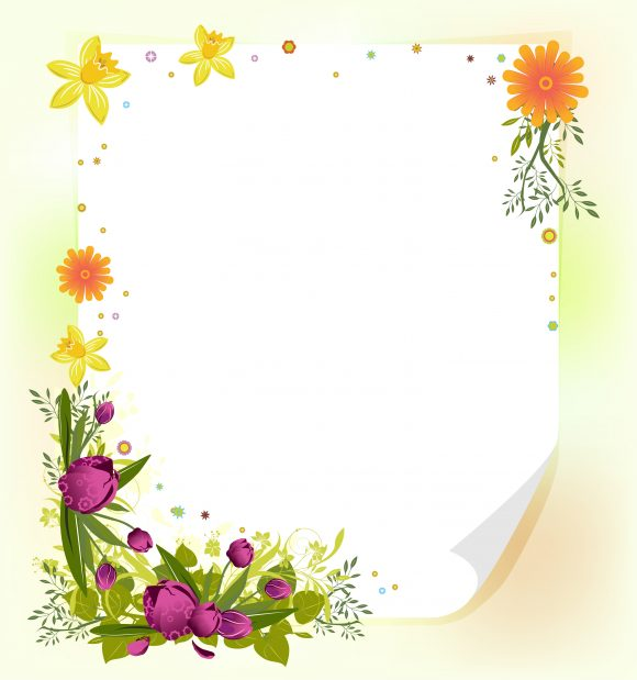Surprising Background Vector Image: Vector Image Spring Floral Background 5