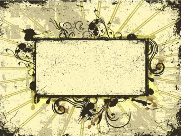 Lovely Vector Vector Design: Vector Design Grunge Floral Frame 31 03 2011 52