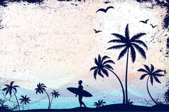 Download Illustration Vector Background: Summer Grunge Background Vector Background Illustration 1