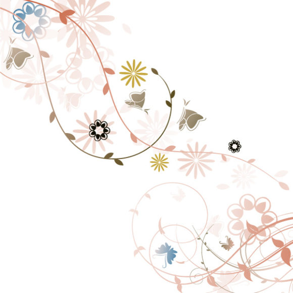 Smashing Insect Vector: Vector Abstract Floral Background 31 03 2011 61