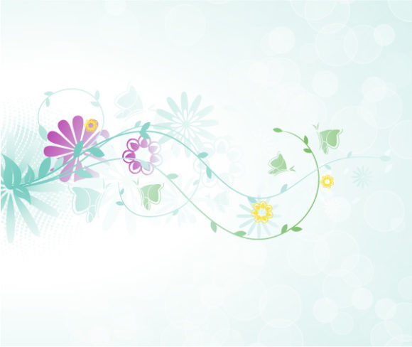 Striking Background Vector Image: Vector Image Abstract Floral Background 5