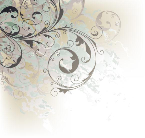 Vector Eps Vector: Grunge Floral Background Eps Vector Illustration 31 03 2011 66