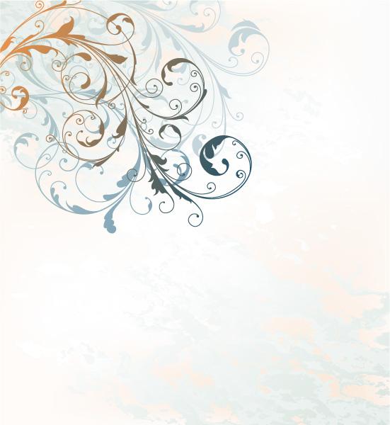 Smashing Floral Vector: Grunge Floral Background Vector Illustration 5
