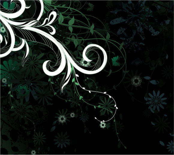 Exciting Vector Eps Vector: Eps Vector Abstract Floral Background 5