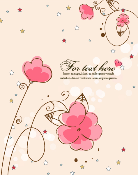 Download With Vector Design: Stars With Floral Vector Design Illustration 5