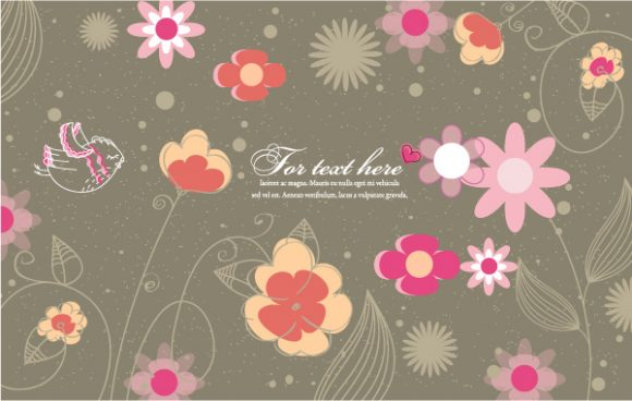 Buy With Vector Artwork: Bird With Floral Vector Artwork Illustration 31 10 2011 103