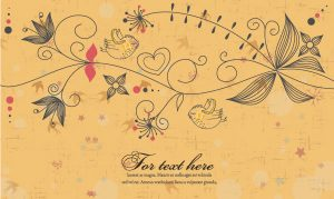 Birds With Floral Vector Illustration Vector Illustrations old