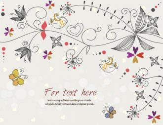 Butterflies With Floral Vector Illustration Vector Illustrations floral