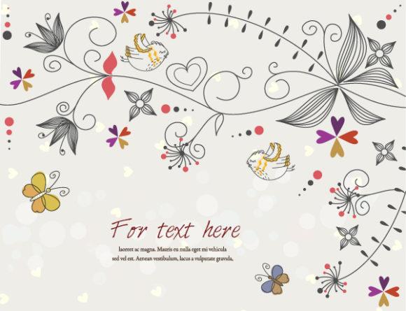 Gorgeous Floral Vector Artwork: Butterflies With Floral Vector Artwork Illustration 31 10 2011 107