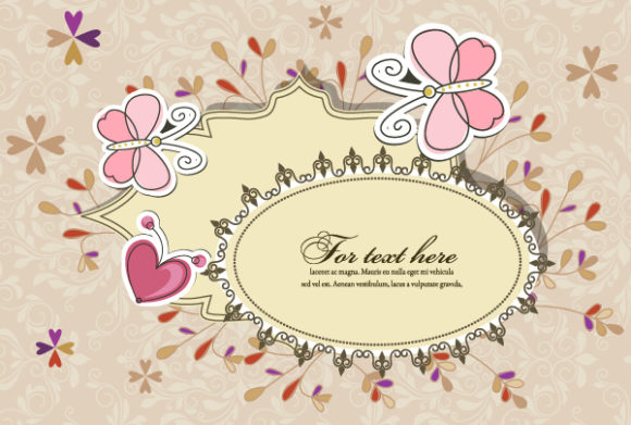 Floral, Floral-3 Eps Vector Vector Abstract Floral Frame 5