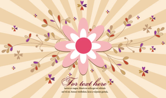 Unique Rays Vector Graphic: Rays With Floral Vector Graphic Illustration 31 10 2011 112
