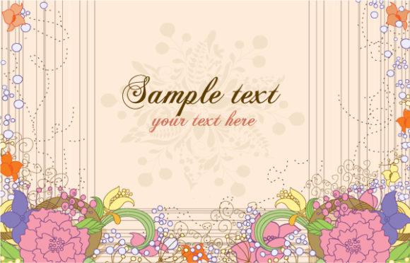 Background Vector Image: Floral Background Vector Image Illustration 31 8 2011 104