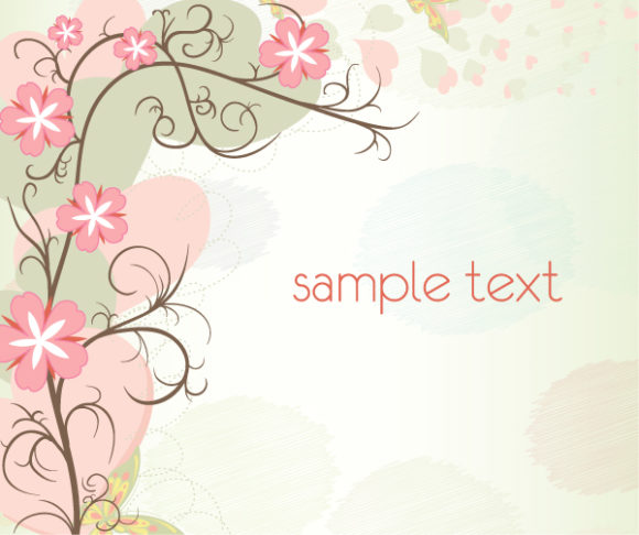 Vector Eps Vector: Floral Background Eps Vector Illustration 31 8 2011 111