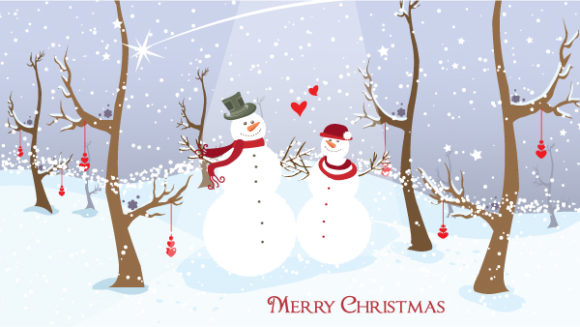 Lovely Winter Vector Image: Winter Background Vector Image Illustration 3 10 2011 108
