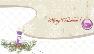Winter Background With Candle Vector Illustration Vector Illustrations vector