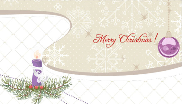 Winter Background With Candle Vector Illustration 3 10 2011 115