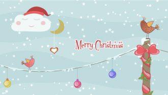 Vector Christmas Greeting Card Vector Illustrations vector