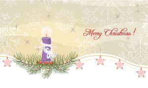 Candle With Snowflakes Vector Illustration Vector Illustrations vector