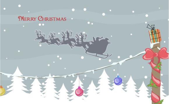 Vector, Christmas Vector Image Vector Christmas Greeting Card 5