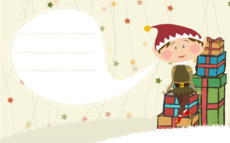 Vector Christmas Card With Elf Vector Illustrations vector