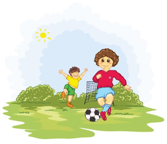 Kids Playing Soccer Vector Illustration 5 7 2011 104